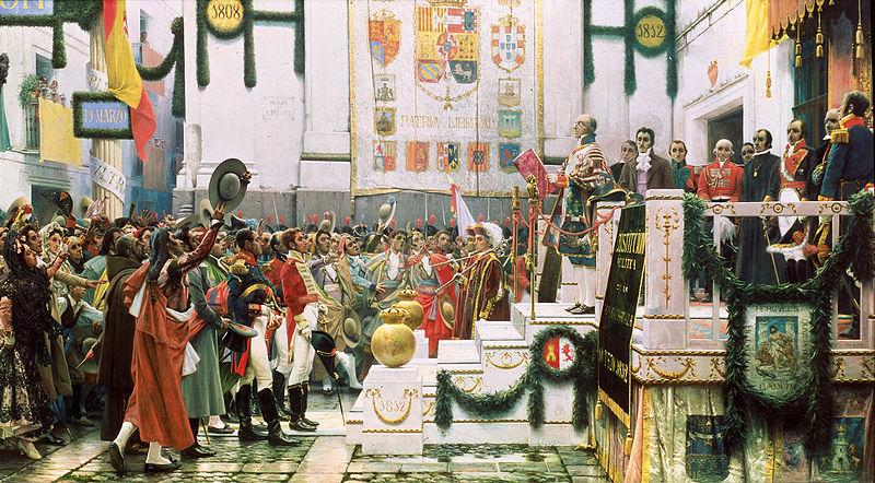 Promulgación de la constitución de 1812  Salvador Viniegra (1912)