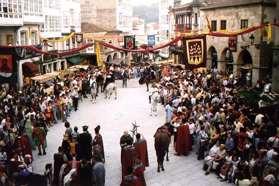 la feria medieval de betanzos es una de las fiestas de galicia más conocidas