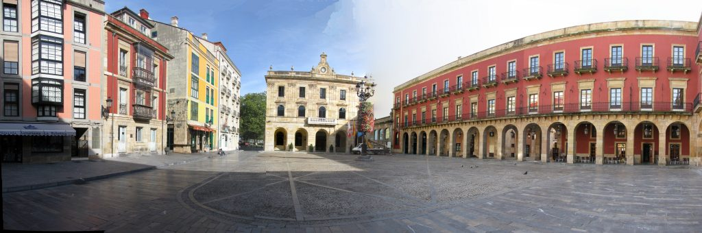 plaza mayor de Gijón