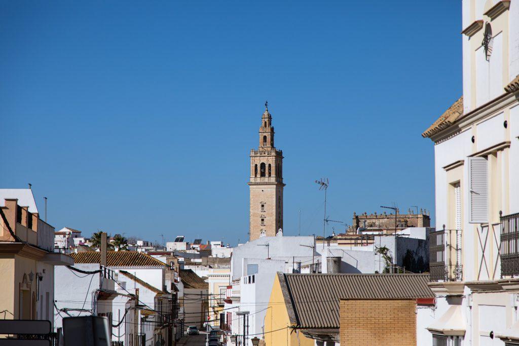 Torre giraldilla de Lebrija, pertenece a la iglesia de nuestra señora de la oliva.